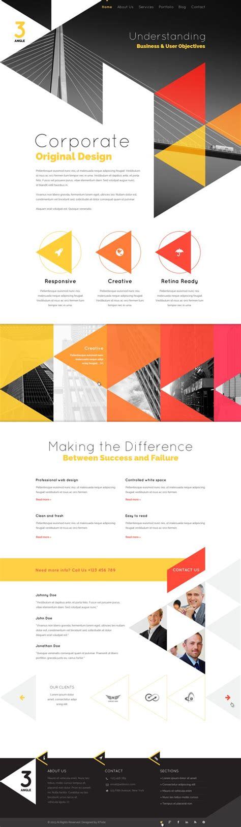 3angle Agency Creative Html Template By Wordpress Design Awards Via Behance Web Trophy Website Template