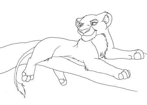 free coloring pages of lion and lioness