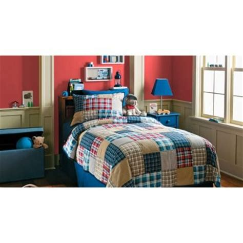 target boys bedding circo 174 boy plaid quilt set twin