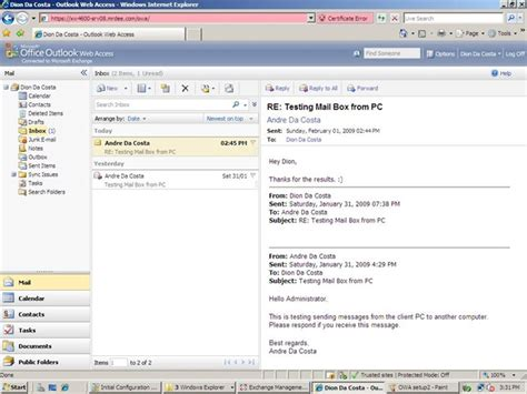 Microsoft Outlook Live Microsoft Outlook Web Access Part Of Exchange Server 2007