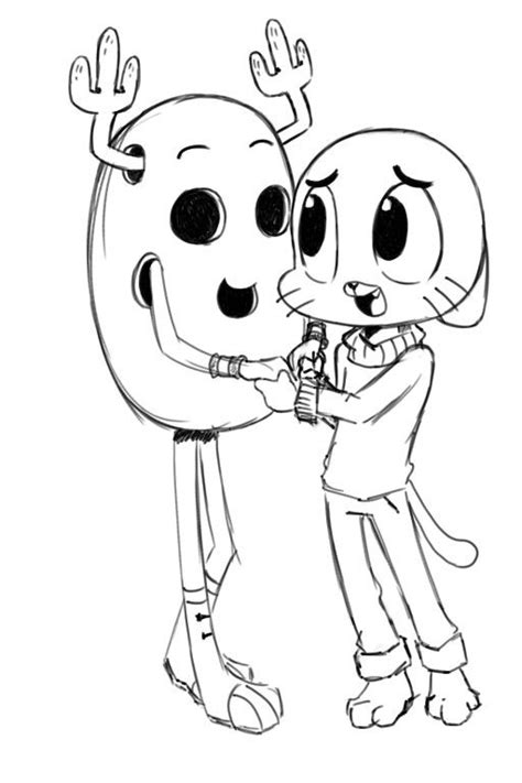 coloring pictures of the amazing world of gumball 17 best images about the amazing world of gumball on