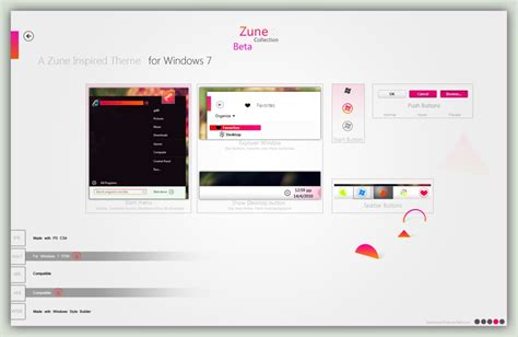 theme windows 7 zune zune windows seven theme themes for pc