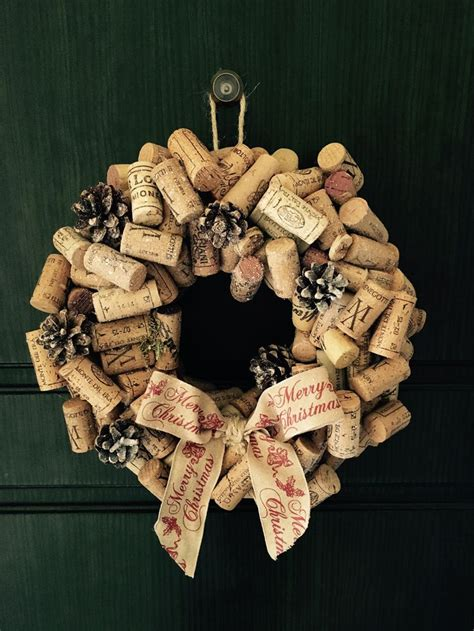 wreath cork wine garland ideas shabby chic home made merry juta