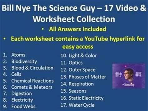 Bill Nye The Science Cells Worksheet by Seasons Guys And Bill Nye On
