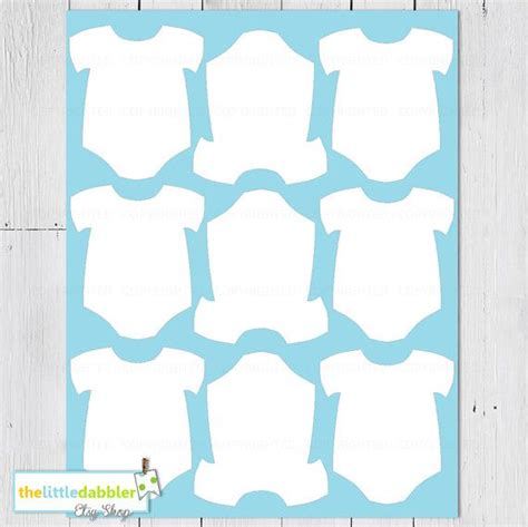 template for baby shower favors free printable baby onesie template cards