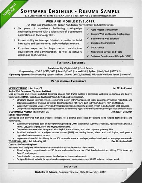 software developer resume example new best software engineer resume