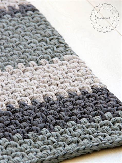 Crochet Rectangle Rug Crochet Rug Rag Rug Round Rug How To Crochet A Rag Rug