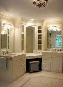 Vanity Makeup Station Corner Vanity Traditional Bathroom Sharon Mccormick