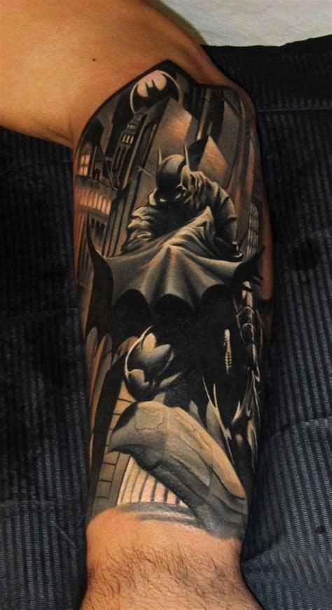batman comic tattoo sleeve 1000 ideas about batman tattoo sleeve on pinterest