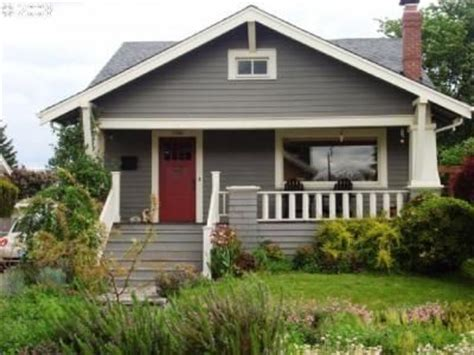 grey house with red door gray house white trim red door house exterior remodel ideas pin