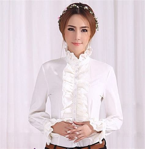 Ruffle Collar Blouse Sleeve by Aliexpress Buy Womens Sleeves Tops Fashion High