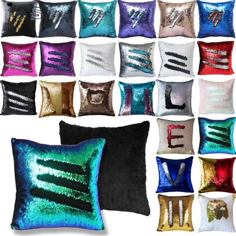 color changing pillow reversible sequin mermaid sequin pillow magical color