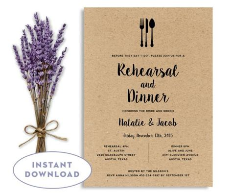 rehearsal dinner invitation template free rehearsal dinner invitation template wedding rehearsal