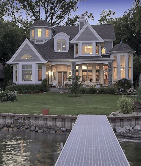 House Plans With Walkout Basement At Back by Shingle Style Lake House Vanbrouck Amp Associates