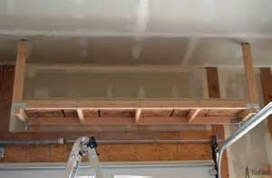 diy hanging garage shelves suspended garage storage diy done right