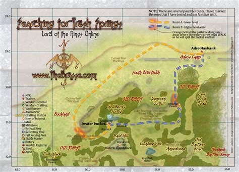 lotro old forest map maps the old forest quest searching for fresh springs