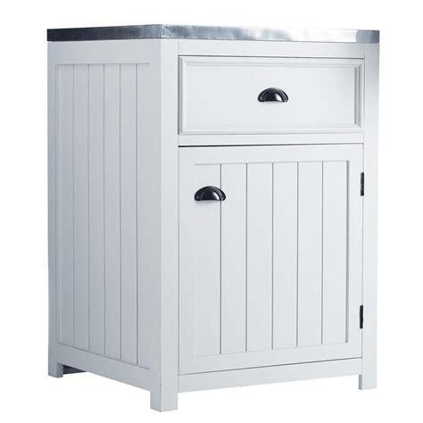 meuble cuisine 60 cm meuble bas de cuisine ouverture gauche en bois blanc l 60 cm newport maisons du monde