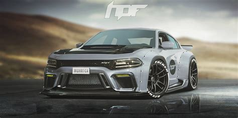 liberty walk hellcat widebody charger by liberty walk srt hellcat forum