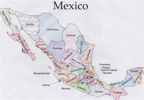 map of mexico printable jigsawgeo