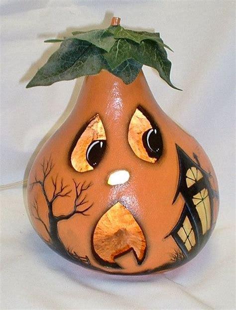light up jack o lantern light up gourd jack o lantern hand painted by