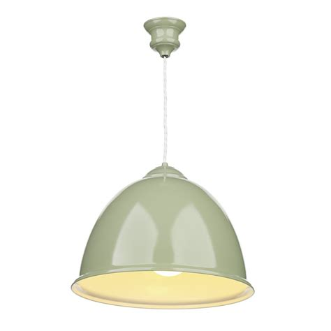 Hanging Ceiling Lights Artisan Lighting Euston Olive Green Hanging Ceiling Pendant Light Retro Style Artisan