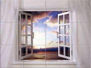 Kitchen Backsplash Tile Murals Window Views Kitchen Backsplash Tile Murals
