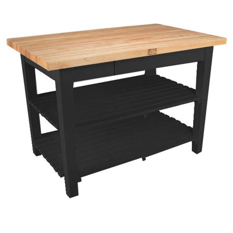 kitchen work tables kitchen islands classic country work table with 2 shelves 36 by boos