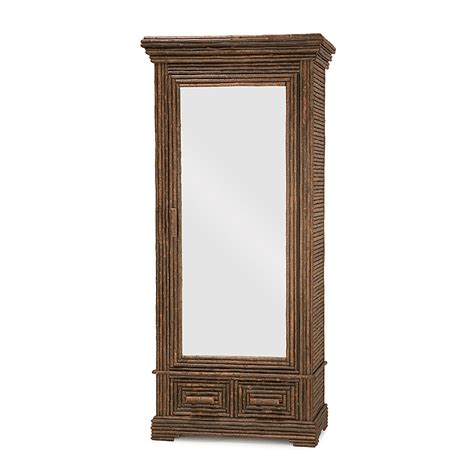 rustic armoire rustic armoire with mirrored door la lune collection