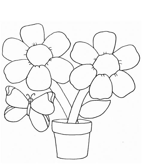 coloring book page drawing coloring pages draw easy flowers simple flower page with