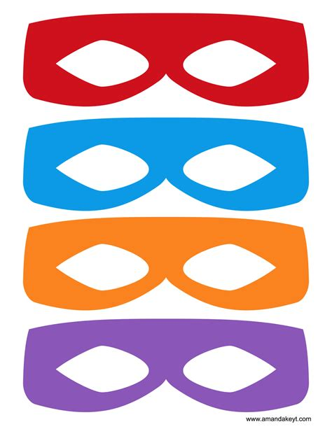 printable ninja mask masks from tmnt teenage mutant ninja turtle inspired