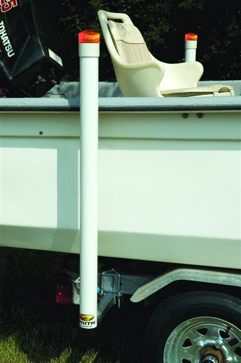 boat trailer guides with lights ce smith post style guide ons with led lights for boat