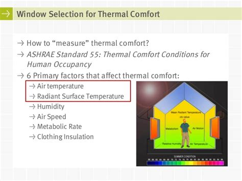 thermal comfort measurement energy ratings for windows balancing energy consumption