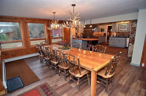 12 person dining table clam lake lodge cabin lodge rental clam lake wisconsin