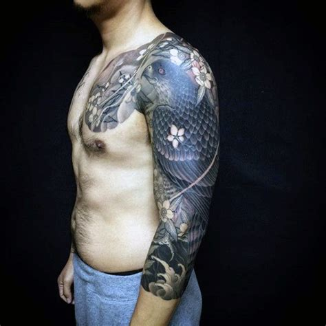 modern sleeve tattoo designs 100 hawk designs for masculine bird ink ideas
