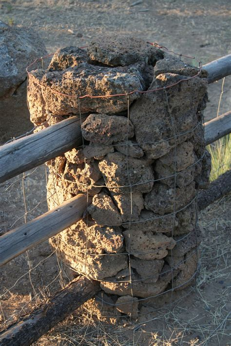 5 Warm Posts To Blogstalk by Lava Rock Fence Post Up A Up Of The Wire