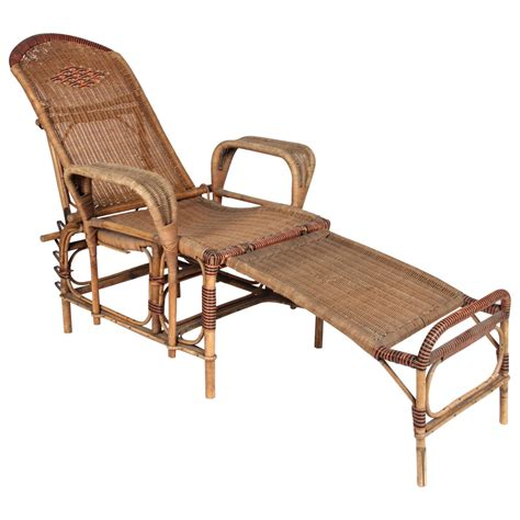 reclining wicker furniture deco reclining wicker lounge chair with detachable