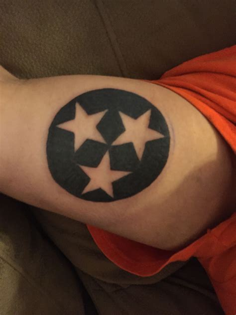 tennessee tattoos s tennessee tri emblem he got from el at