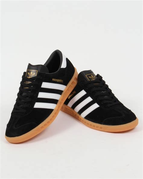adidas hamburg black adidas hamburg trainers black white gum originals shoes