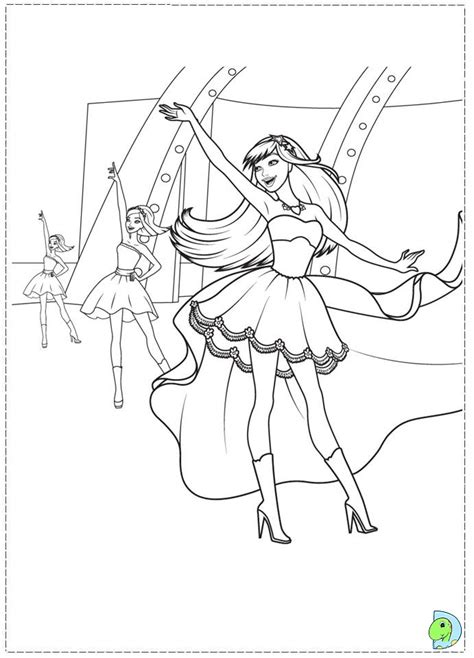 free coloring pages of barbie princess and the popstar