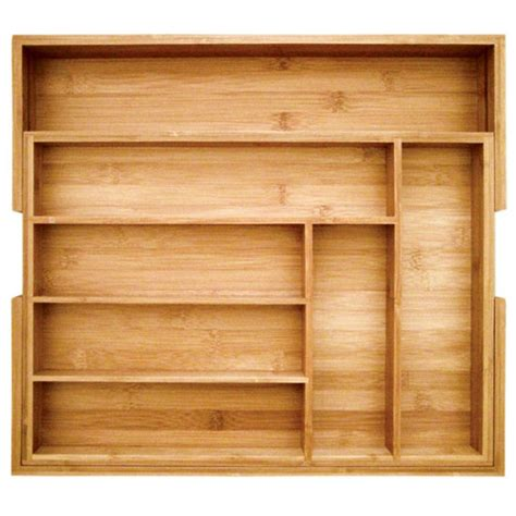 Utility Drawer Organizer the totally bamboo expandable utility drawer organizer