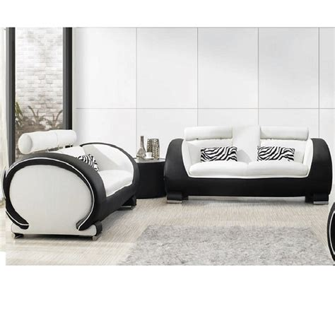 linos sofa 2 and 3 set in black and white leather sofa