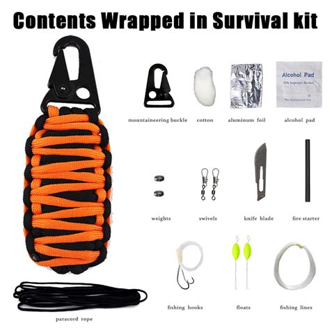 10 In 1 Equipment Cing Hiking Gear Survival Tool Compass Start edc outdoor 12 in 1 survival gear outdoor emergency kit survival cing equipment tools set
