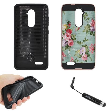 ebay zte zmax pro for zte zmax pro z981 carry rose color hybrid dual layer