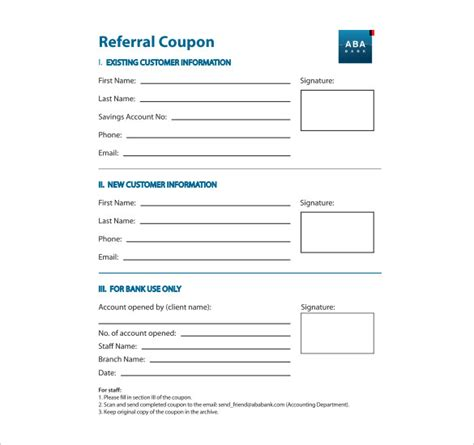 client referral form template 18 referral coupon templates free sle exle