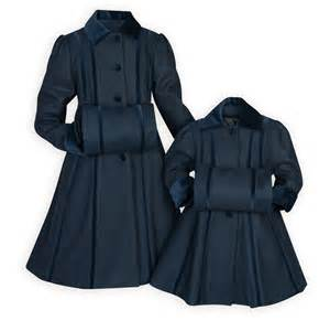 Exclusive navy velvet girl s bow coat with muff made in usa