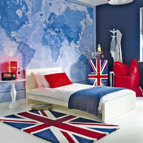 union jack bedroom curtains quot just contempo kids robots duvet world map mural boys