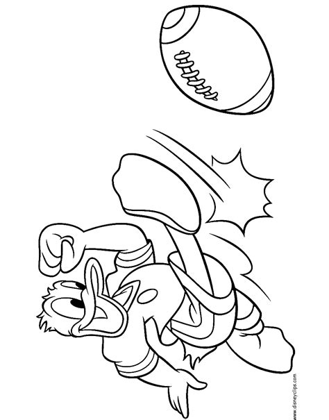disney football coloring page donald and daisy duck coloring pages disney coloring book