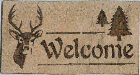 deer wood burning patterns plans diy