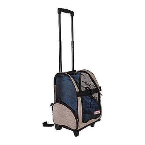 Lifepop Stereo Pet Carrier by Snoozer Roll Around Pet Carrier Airline Approved Carrier