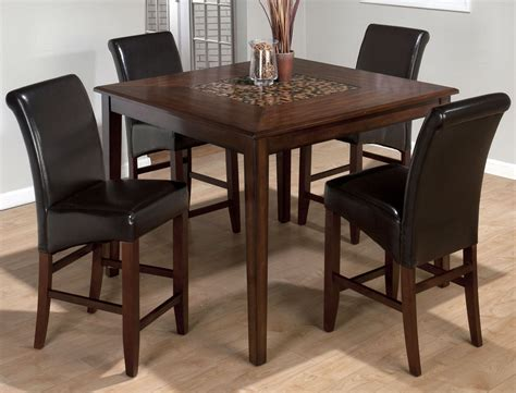 Dining Room Set 50 Baroque Brown Mosaic Inlay Counter Height Dining Room Set